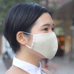 着物マスク/立体(クリーム/白鷹御召)